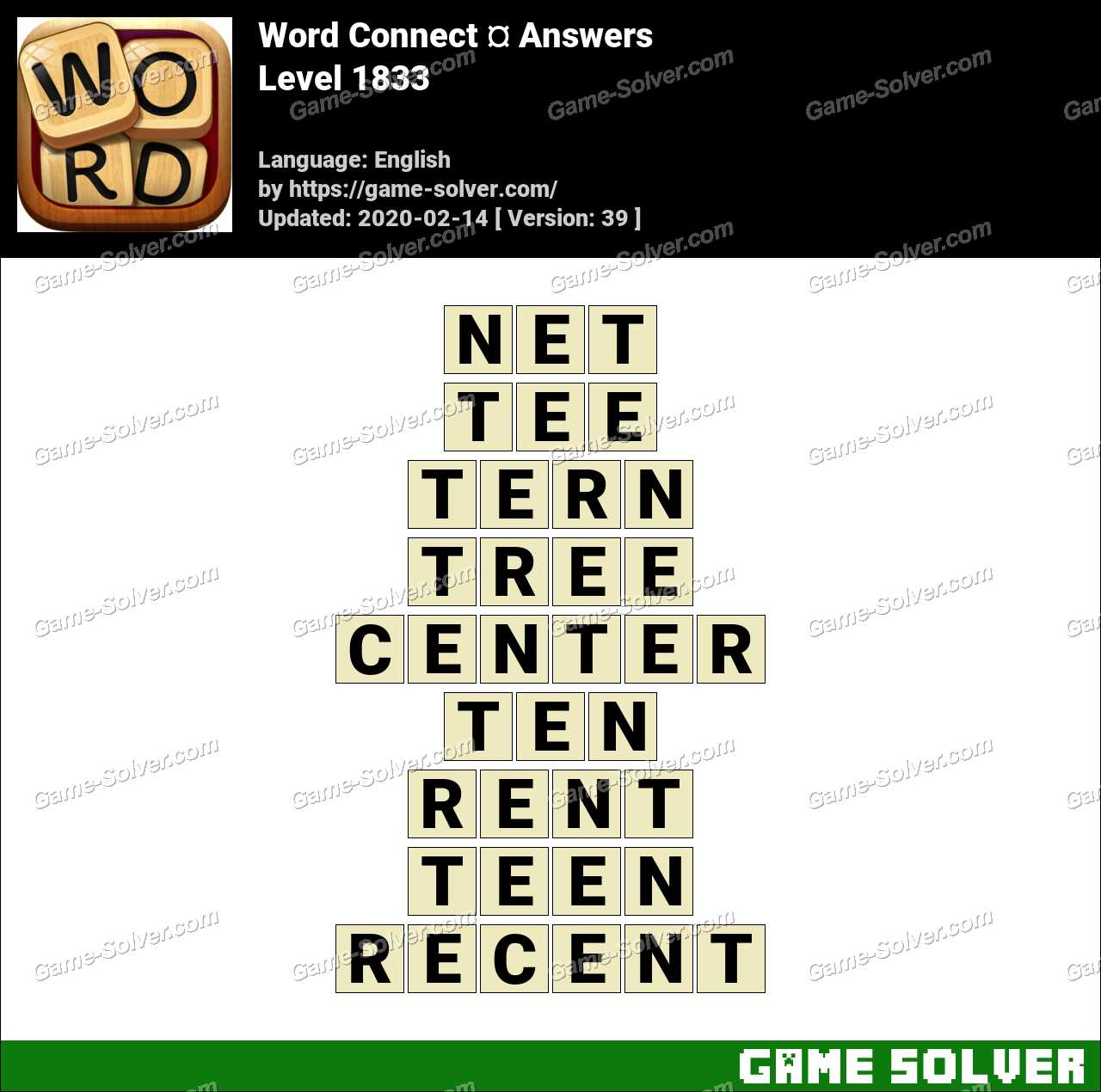 Word Connect Level 1833 Answers