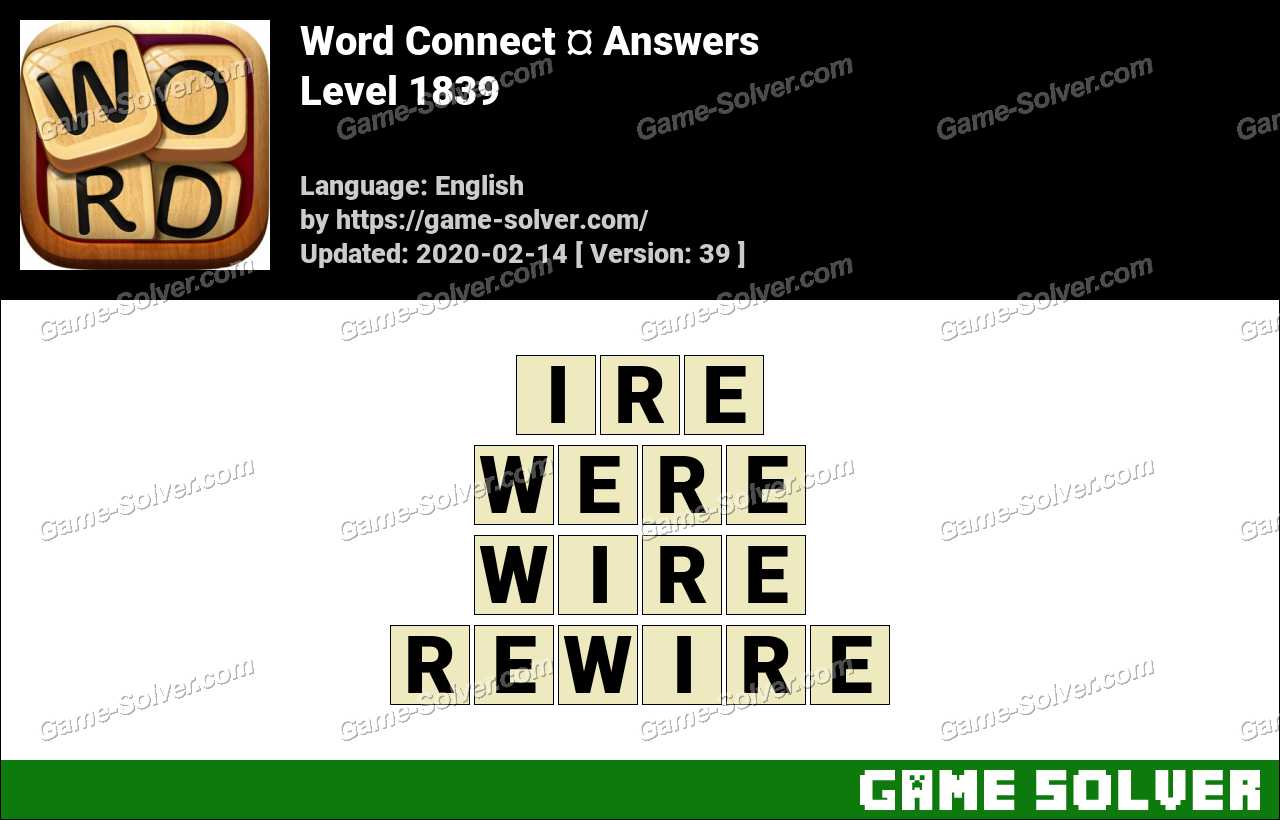 Word Connect Level 1839 Answers
