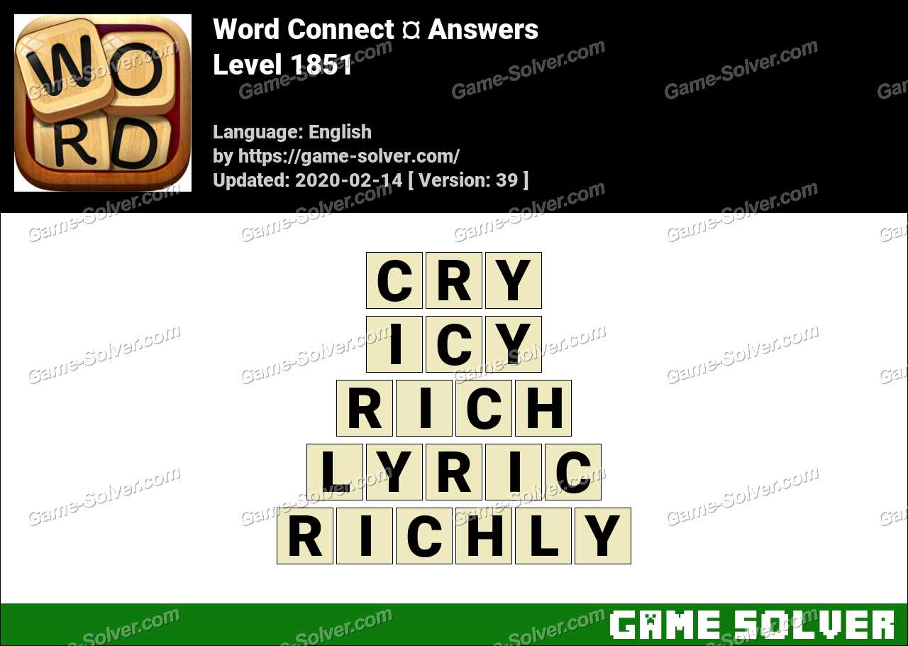 Word Connect Level 1851 Answers