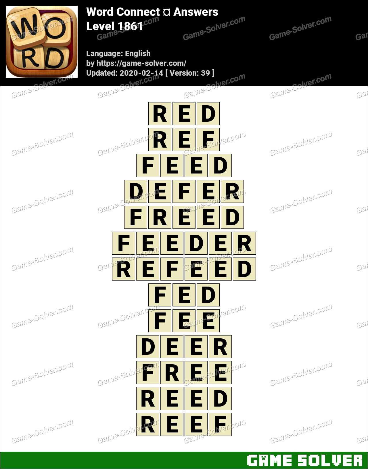 Word Connect Level 1861 Answers