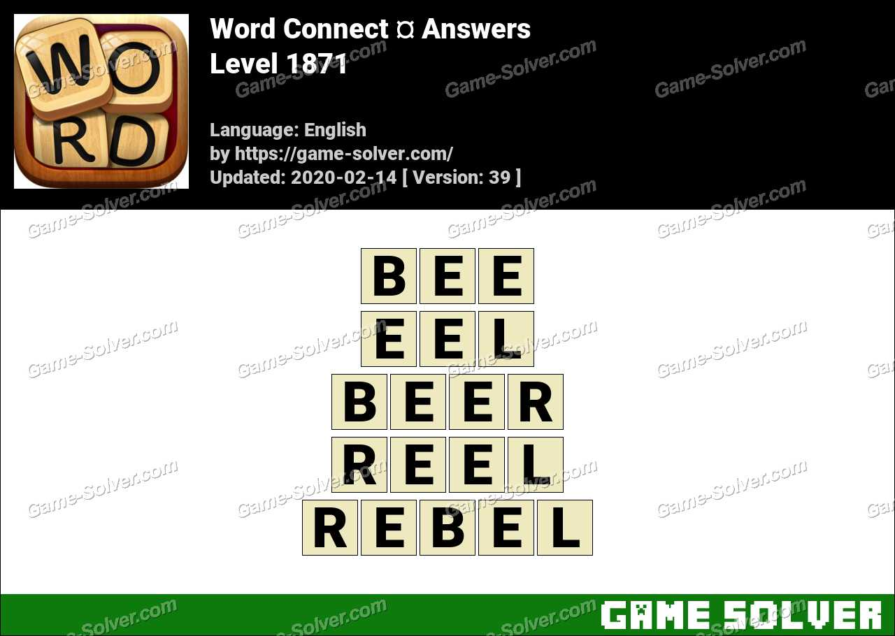 Word Connect Level 1871 Answers