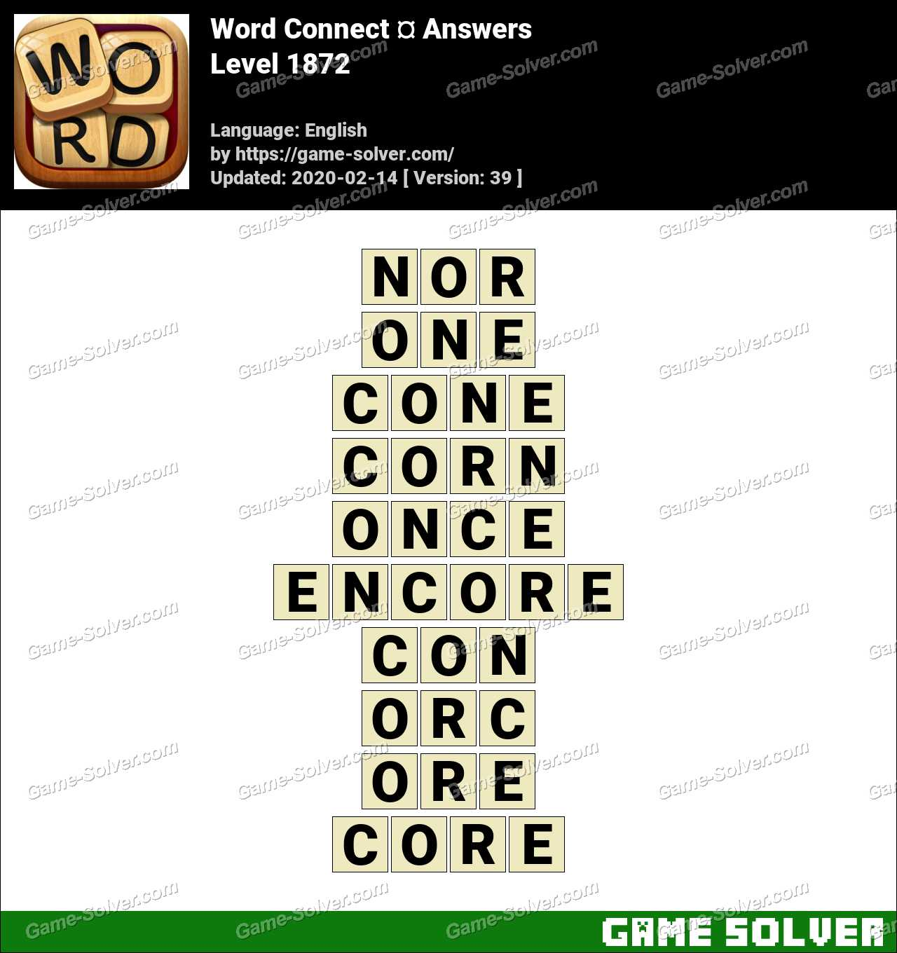 Word Connect Level 1872 Answers