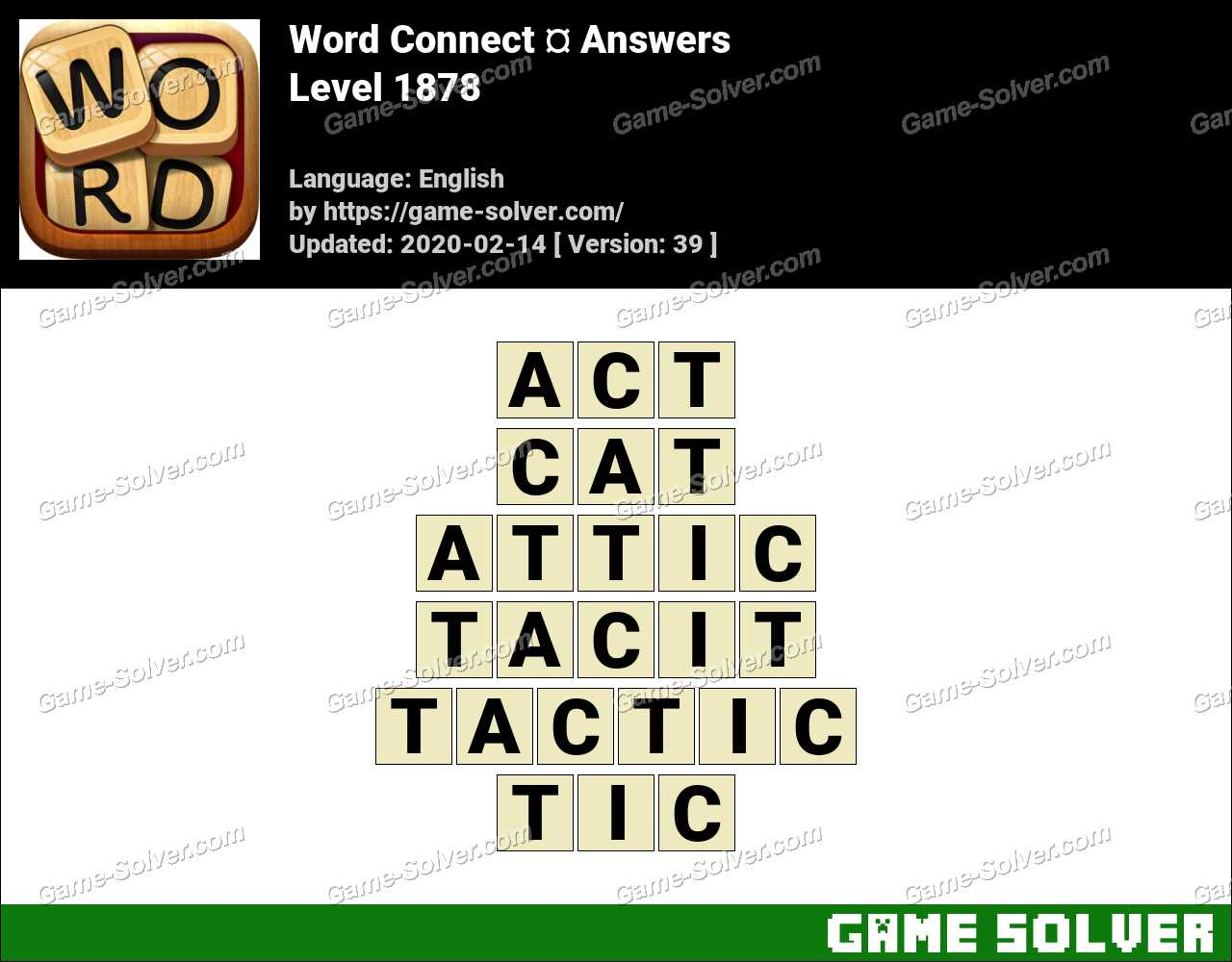 Word Connect Level 1878 Answers