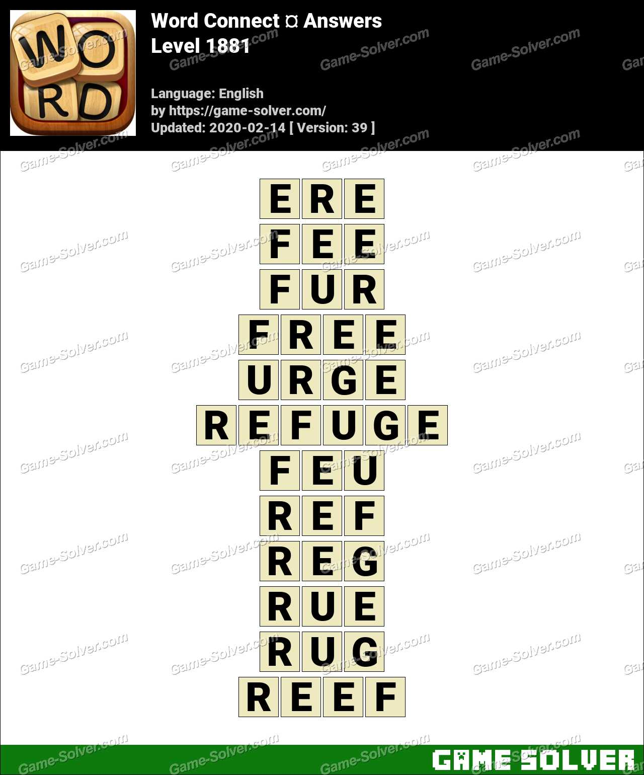 Word Connect Level 1881 Answers