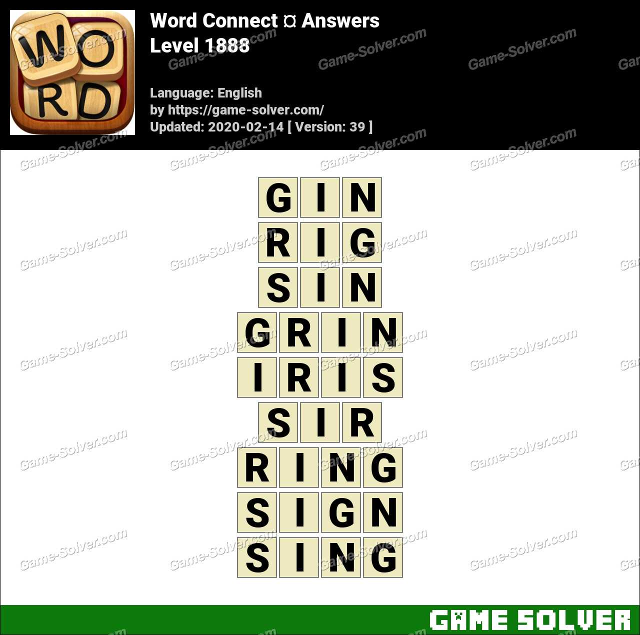 Word Connect Level 1888 Answers