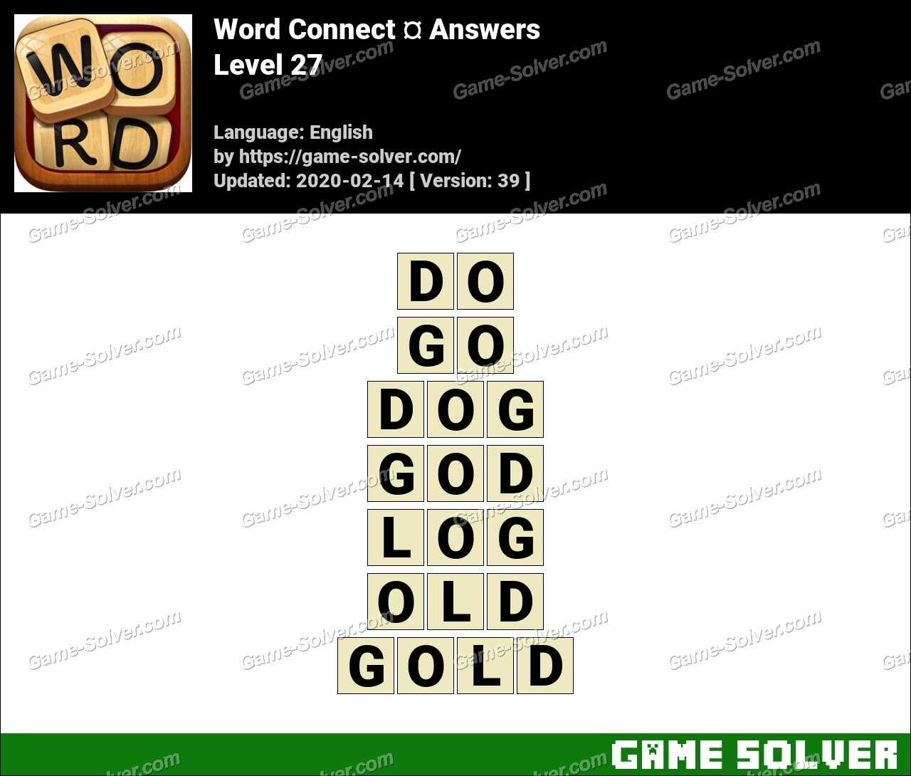 Word Connect Level 27 Answers