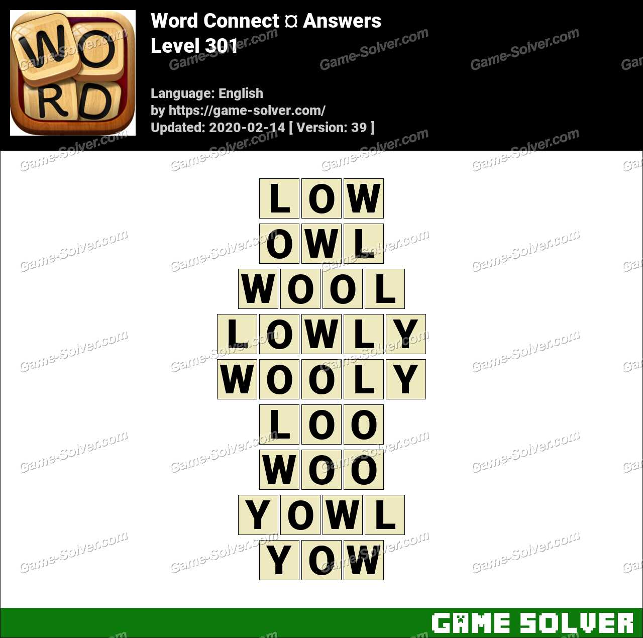 Word Connect Level 301 Answers