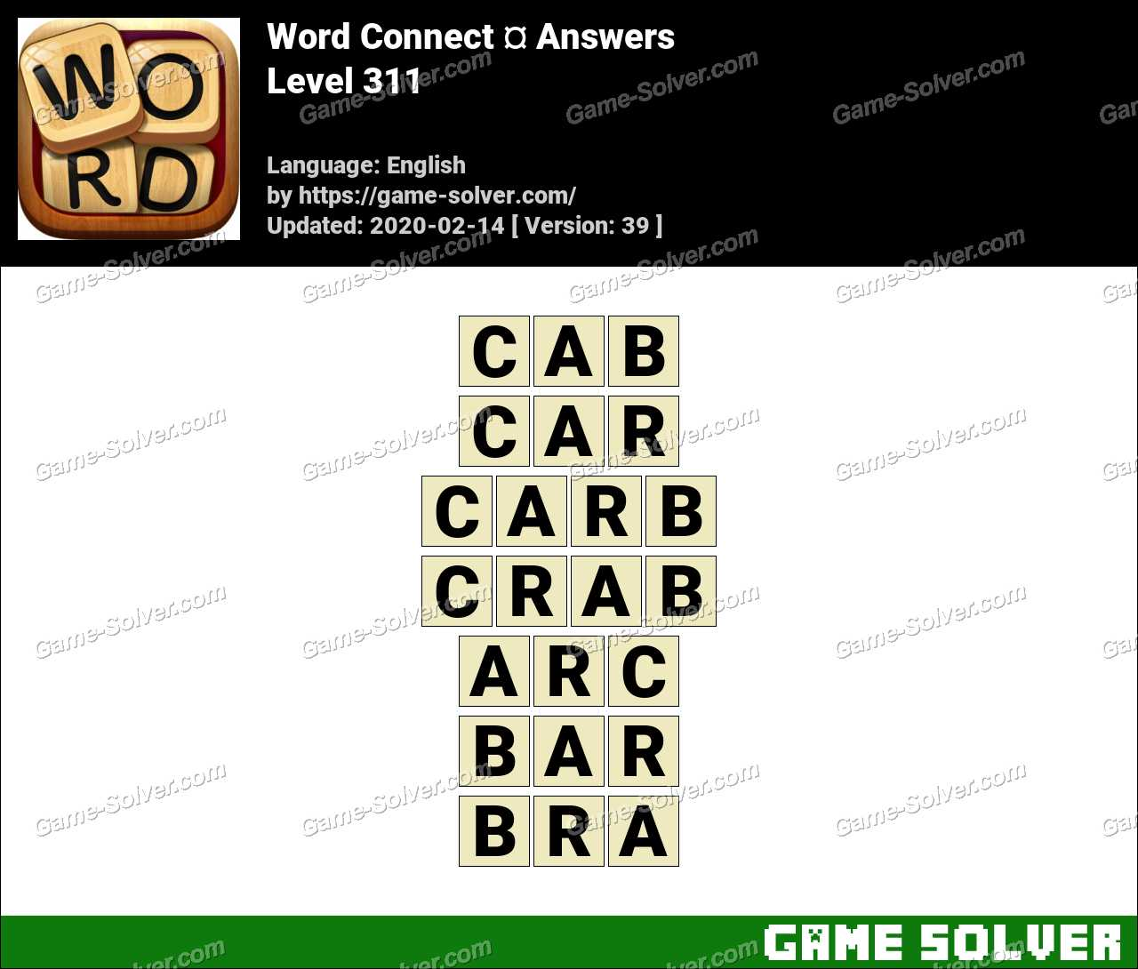 Word Connect Level 311 Answers