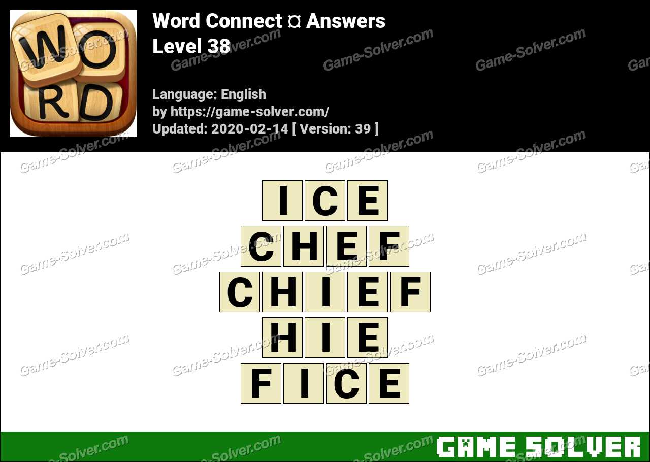 Word Connect Level 38 Answers