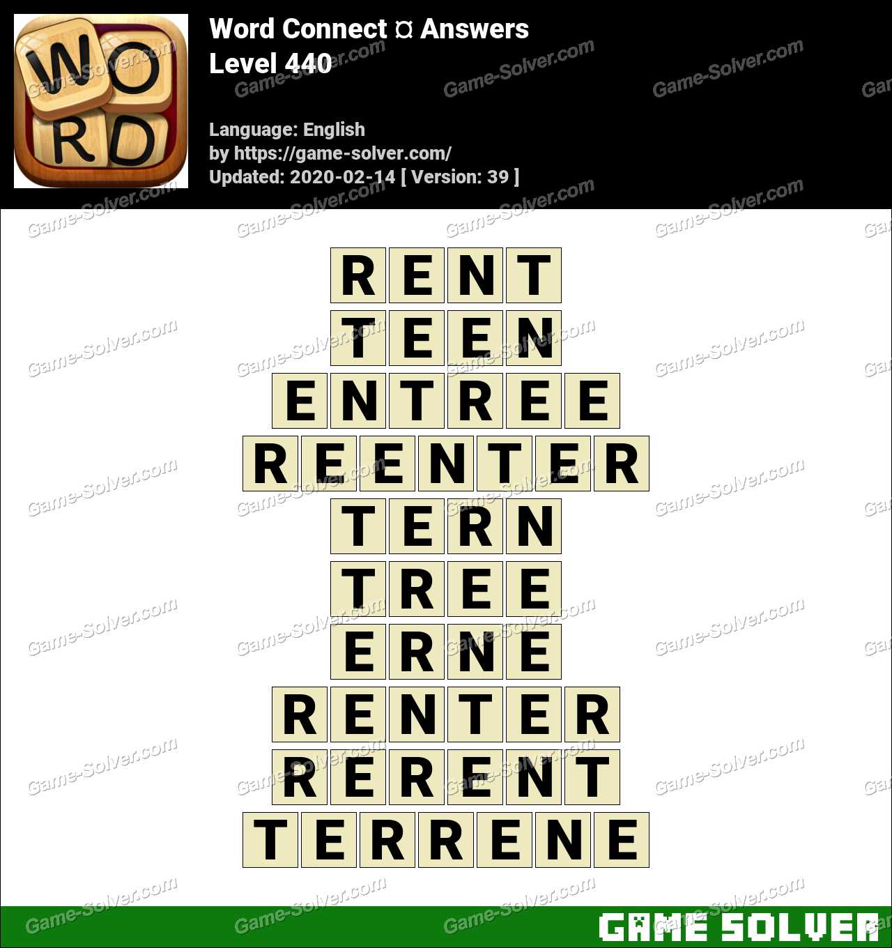 Word Connect Level 440 Answers