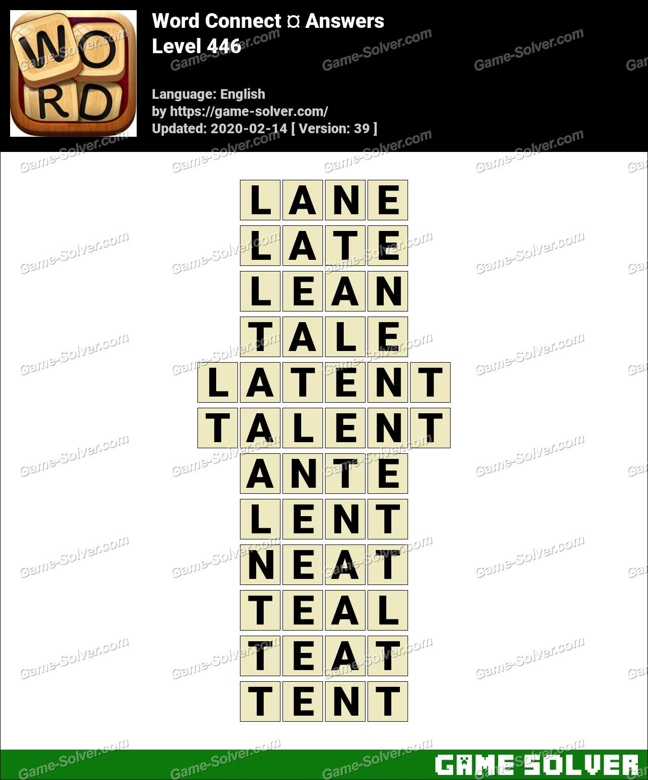 Word Connect Level 446 Answers