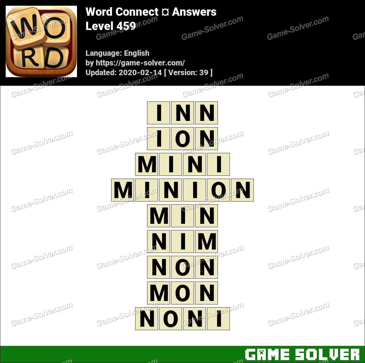 Word Connect Level 459 Answers