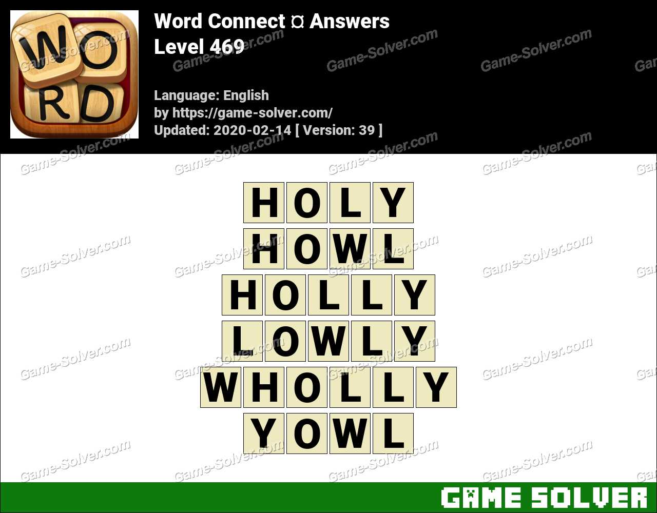 Word Connect Level 469 Answers