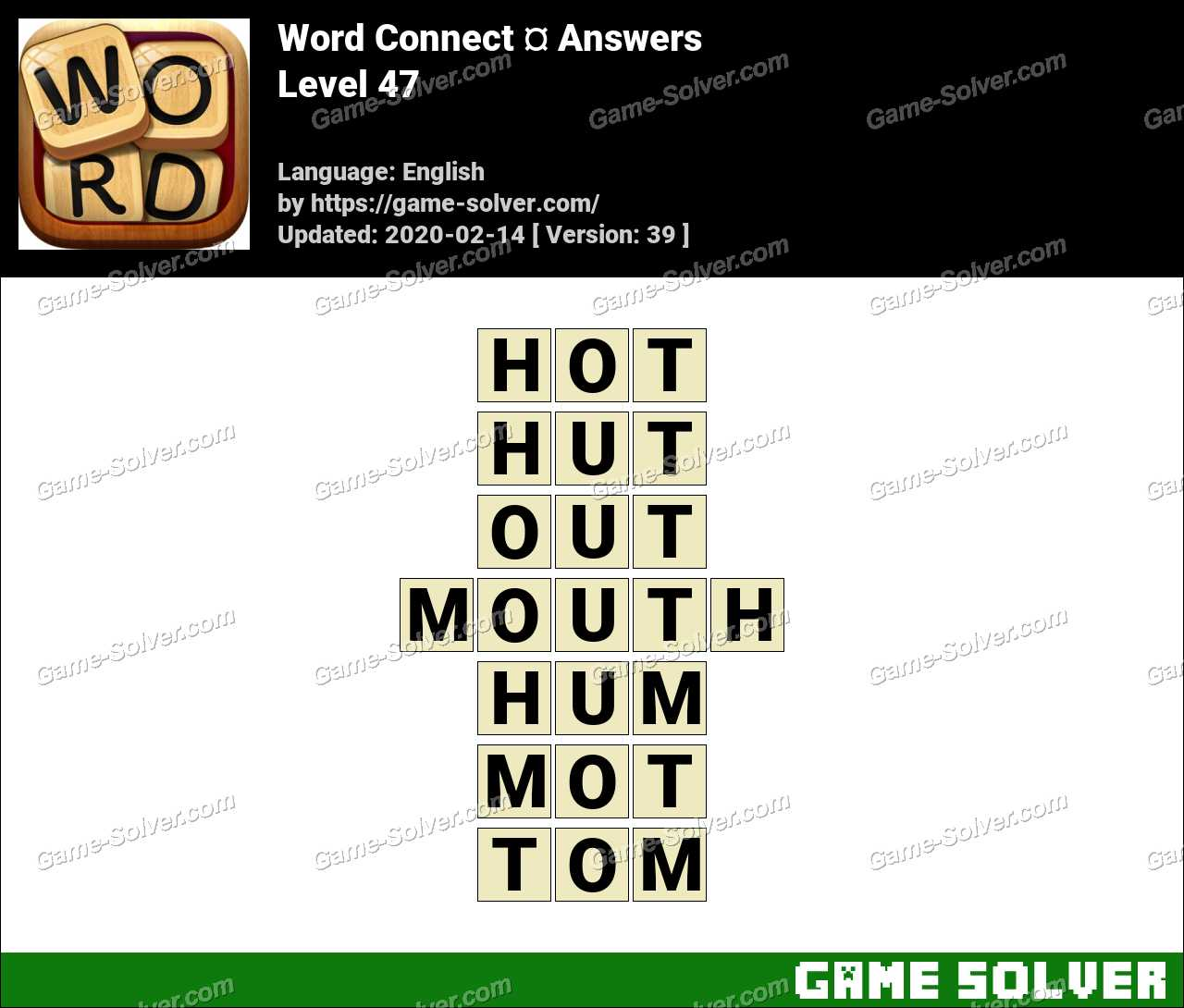 Word Connect Level 47 Answers