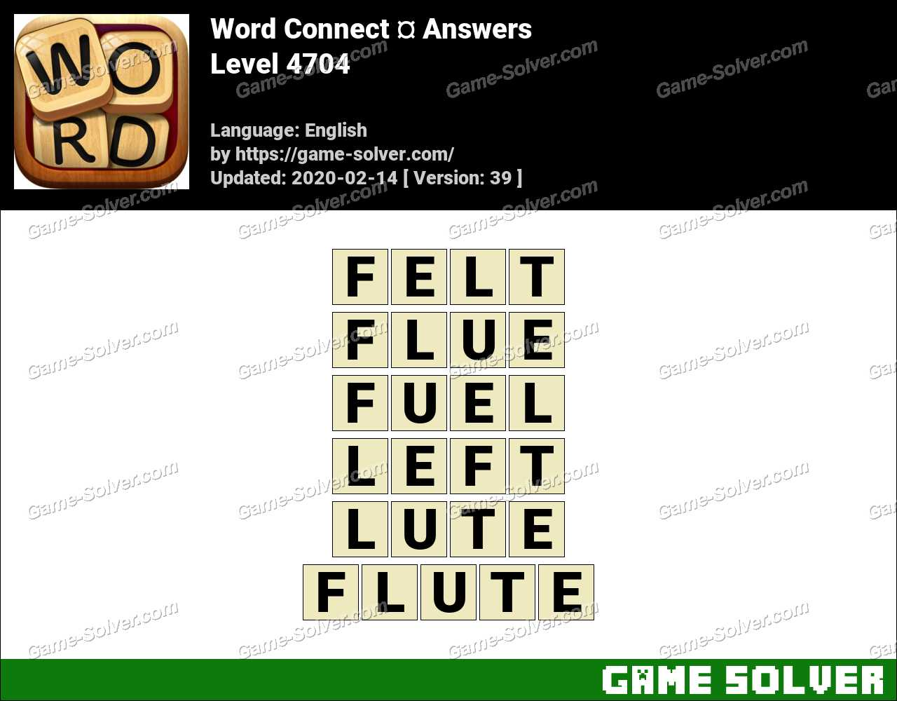 Word Connect Level 4704 Answers
