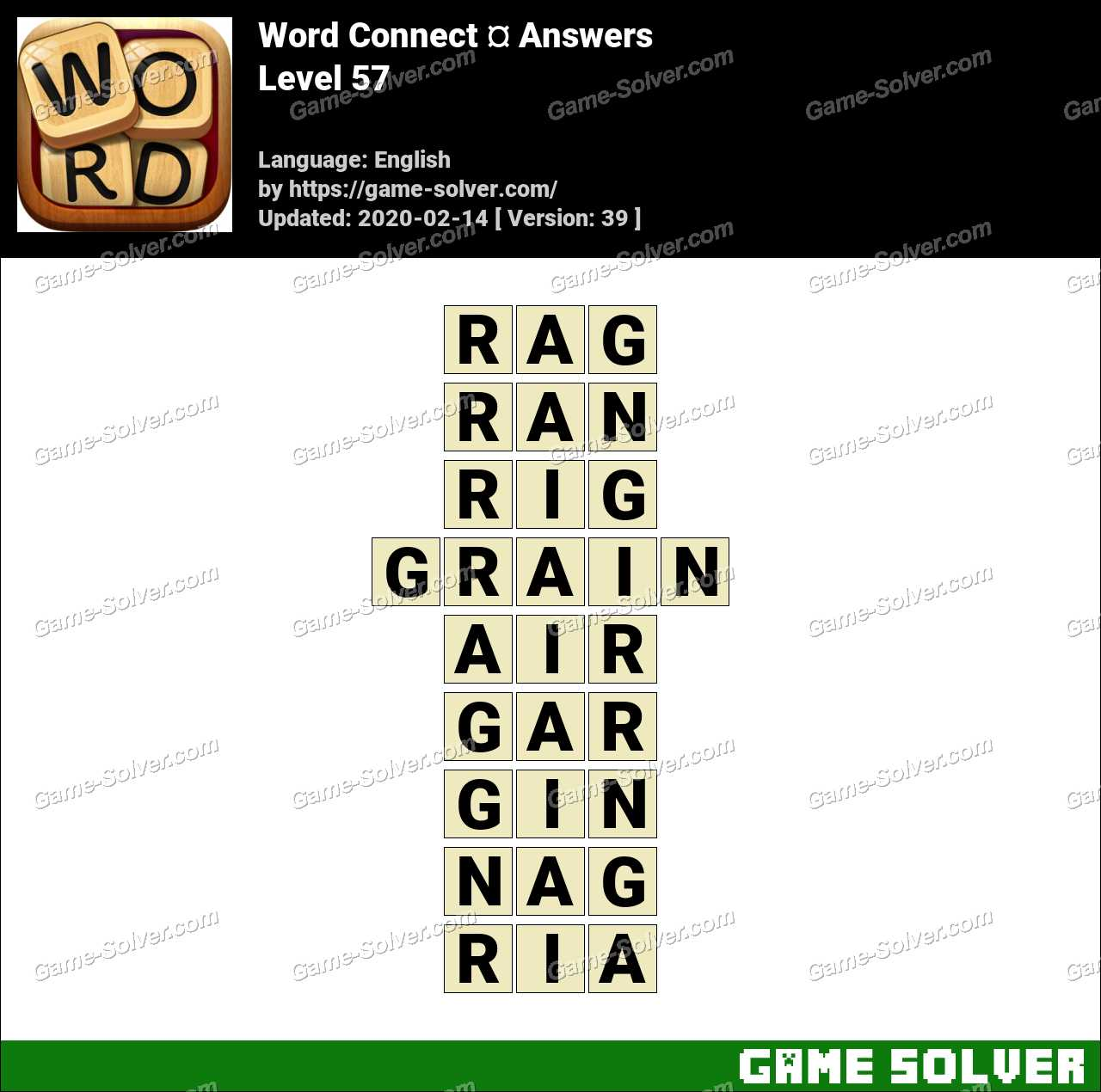 Word Connect Level 57 Answers