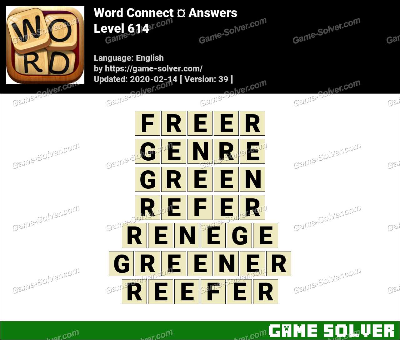 Word Connect Level 614 Answers