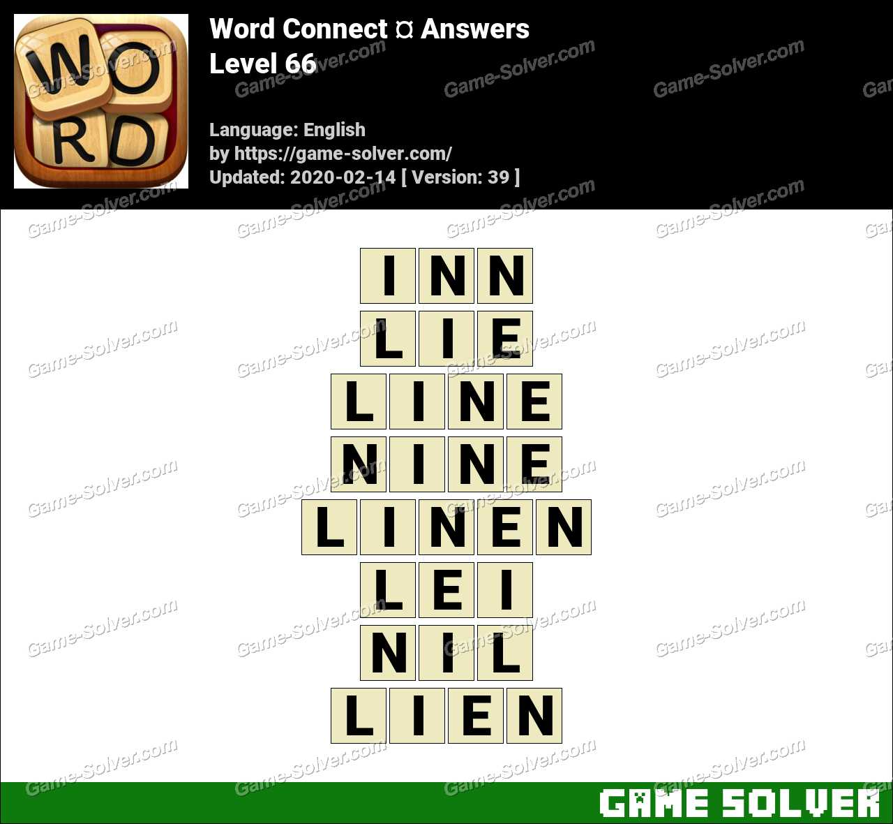 Word Connect Level 66 Answers