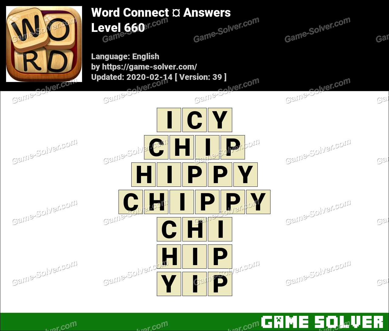 Word Connect Level 660 Answers