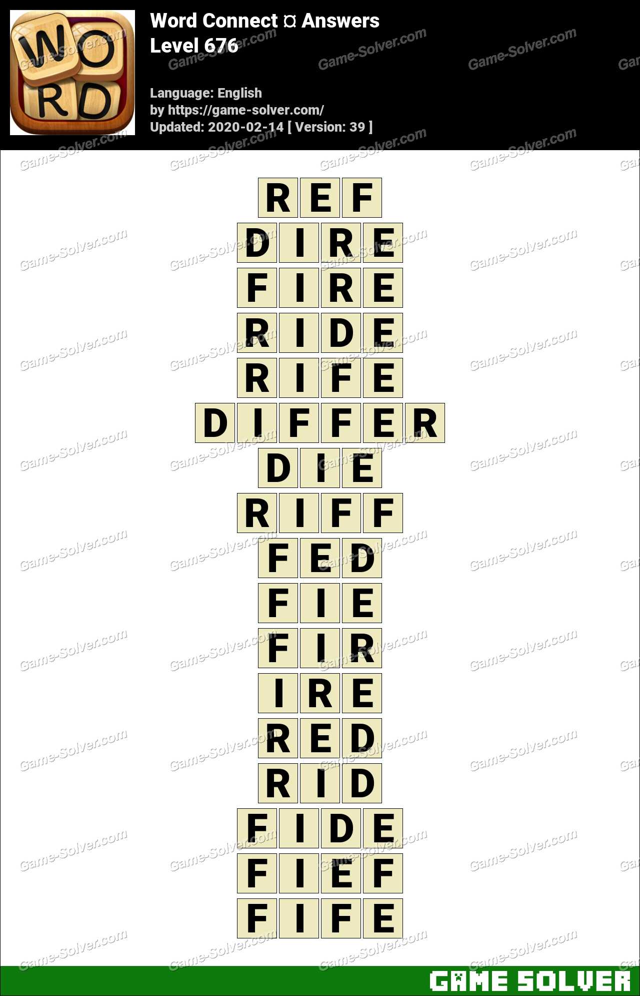 Word Connect Level 676 Answers