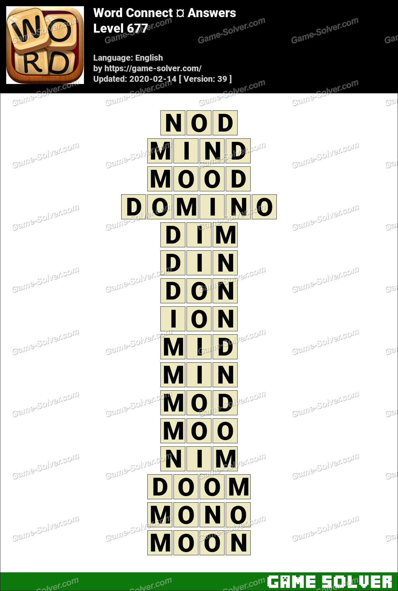 Word Connect Level 677 Answers
