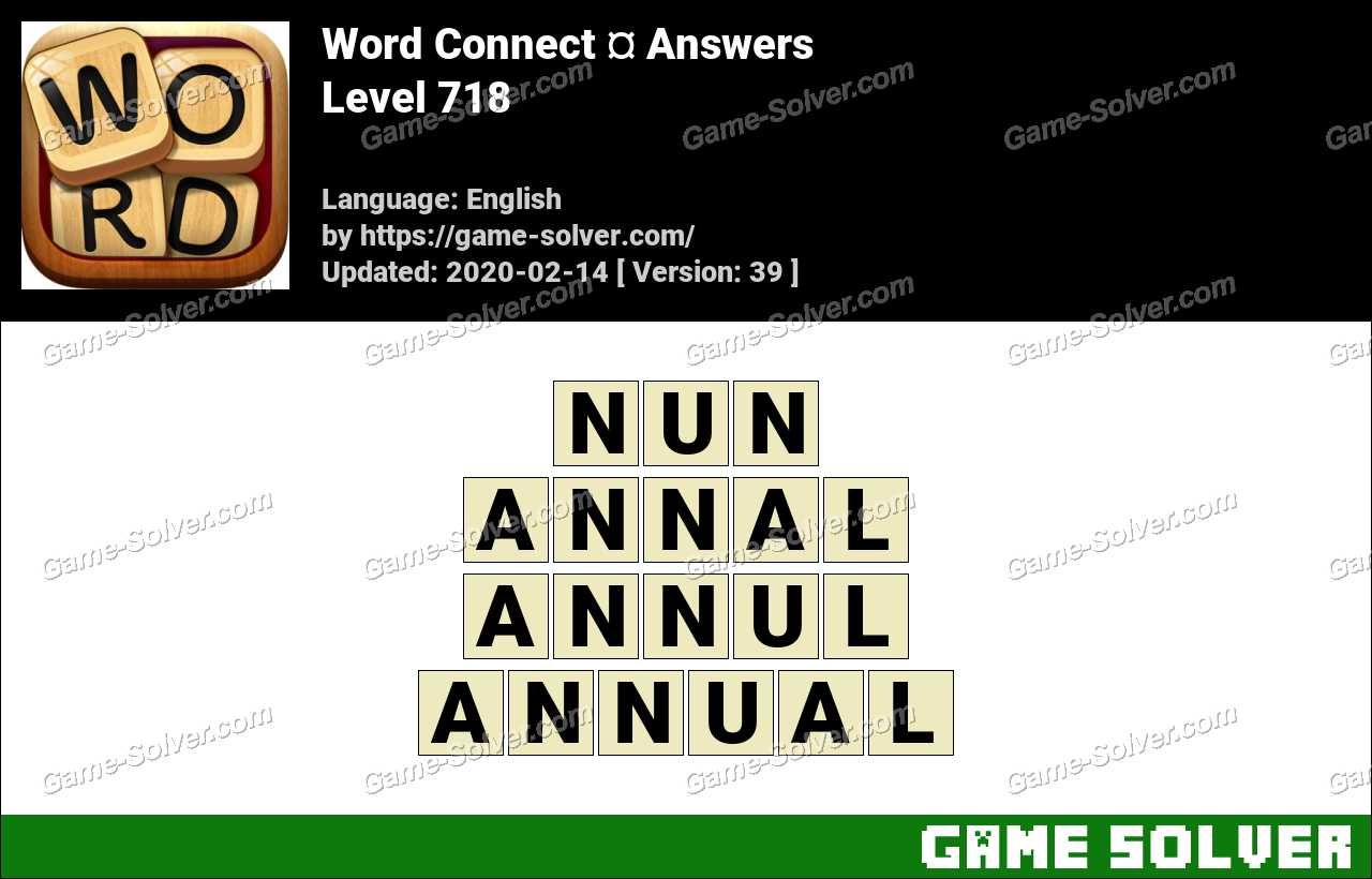 Word Connect Level 718 Answers