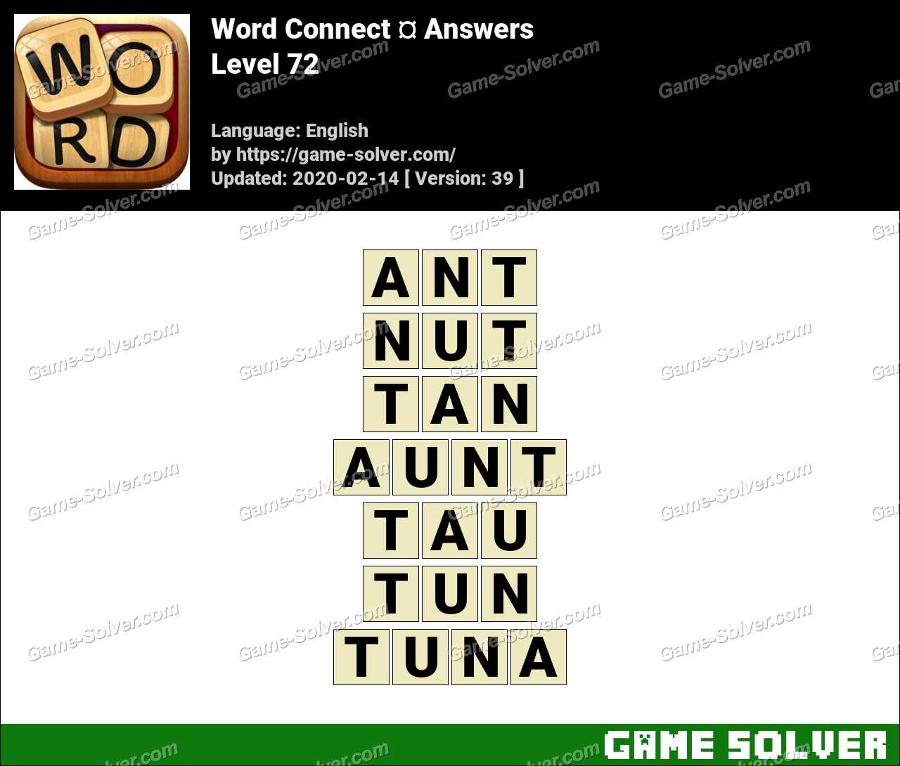 Word Connect Level 72 Answers