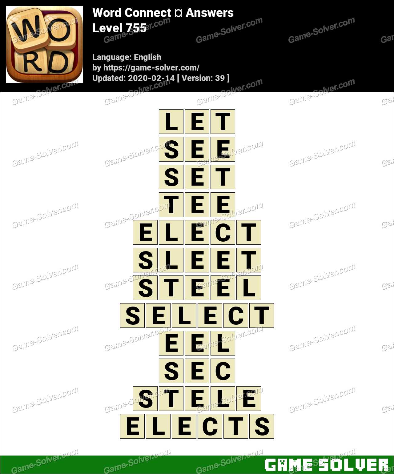 Word Connect Level 755 Answers