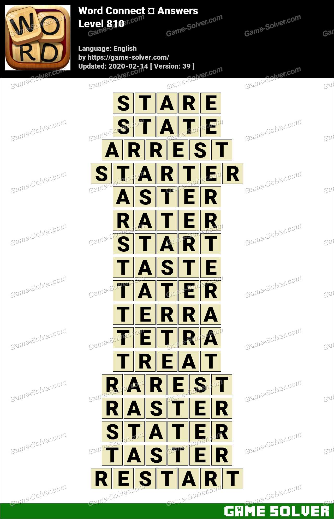Word Connect Level 810 Answers