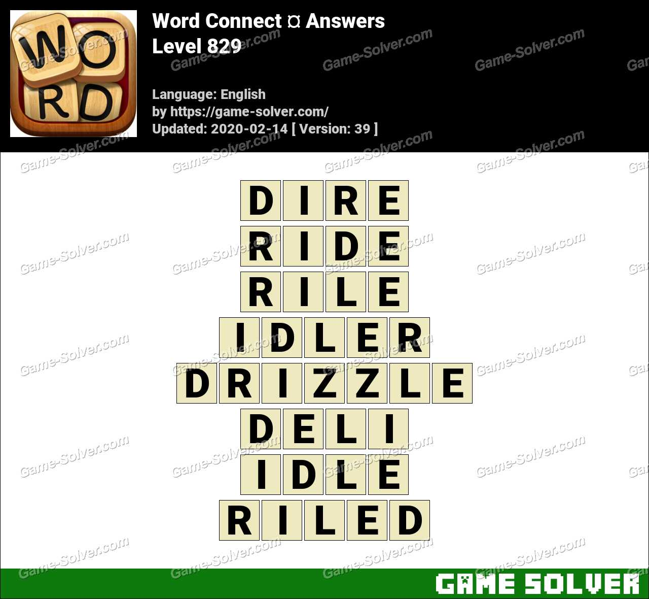 Word Connect Level 829 Answers
