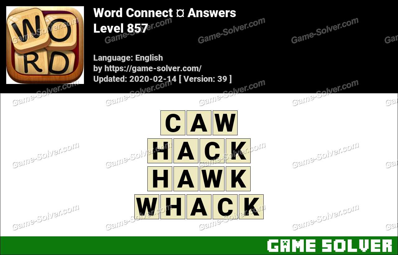 Word Connect Level 857 Answers