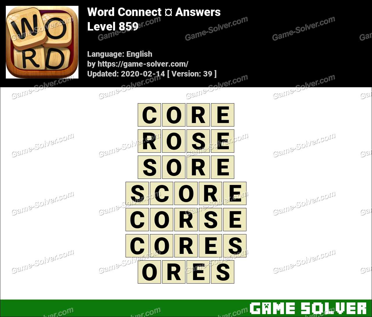 Word Connect Level 859 Answers