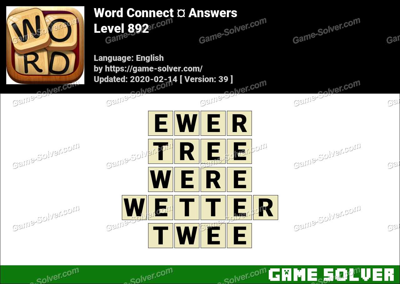 Word Connect Level 892 Answers