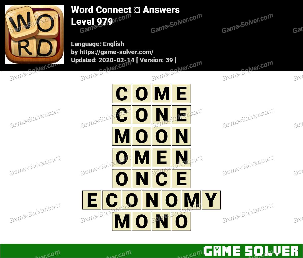 Word Connect Level 979 Answers