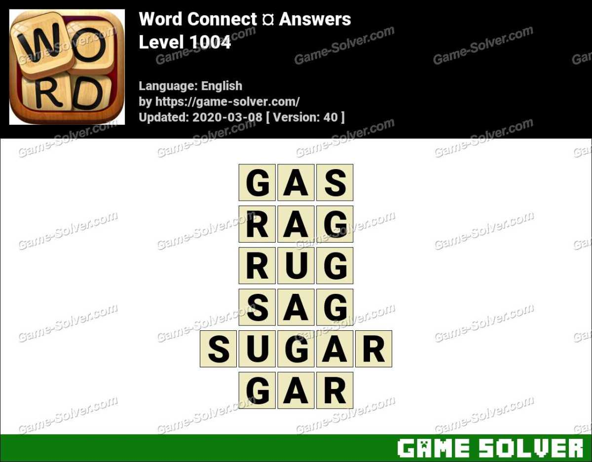 Word Connect Level 1004 Answers