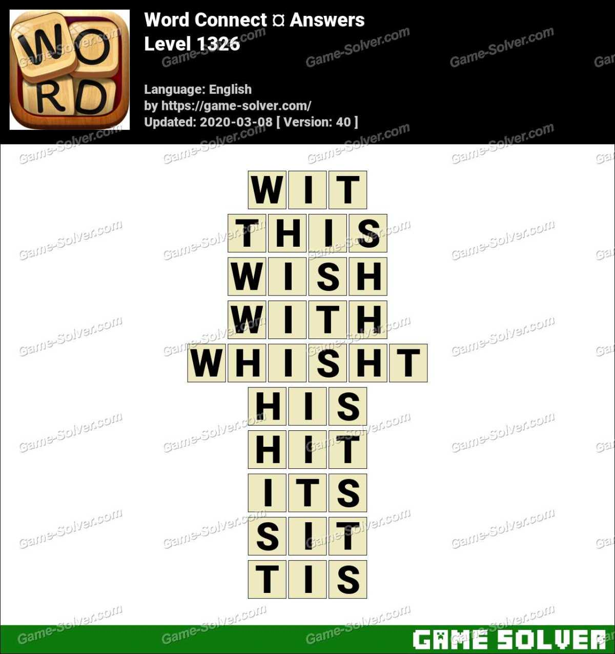 Word Connect Level 1326 Answers