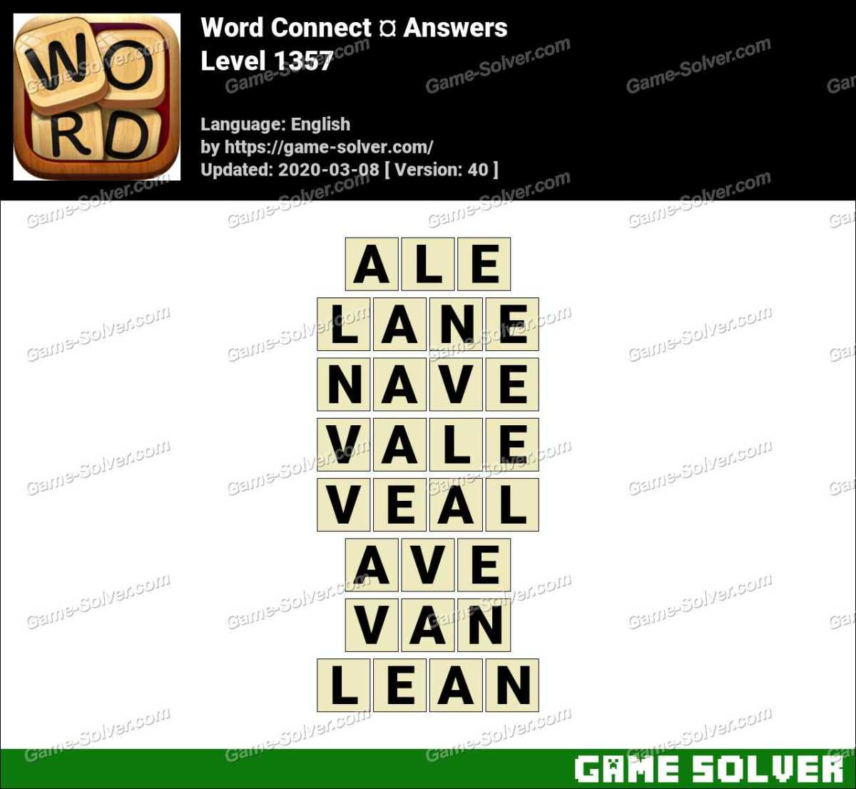 Word Connect Level 1357 Answers