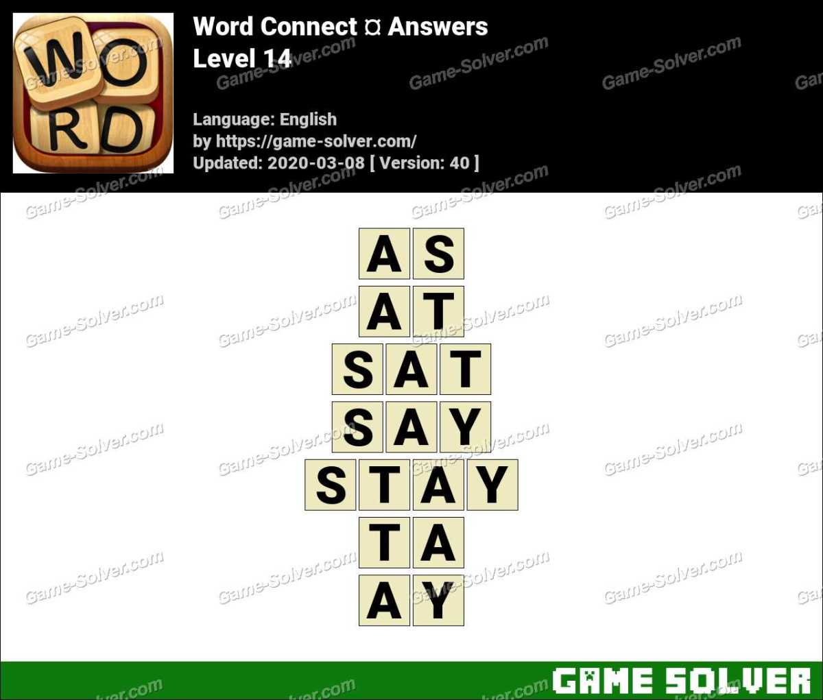 Word Connect Level 14 Answers
