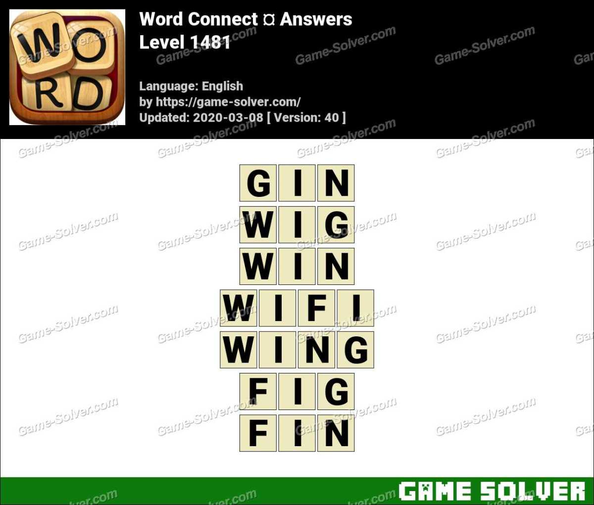 Word Connect Level 1481 Answers