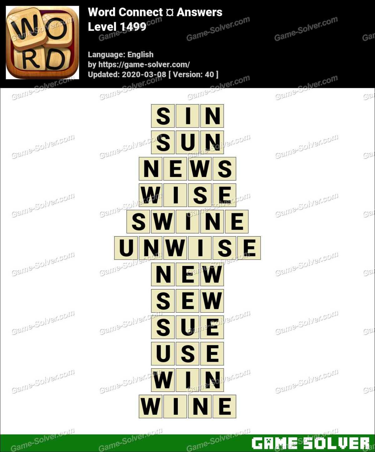 Word Connect Level 1499 Answers