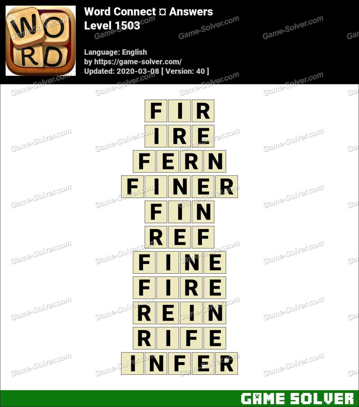 Word Connect Level 1503 Answers