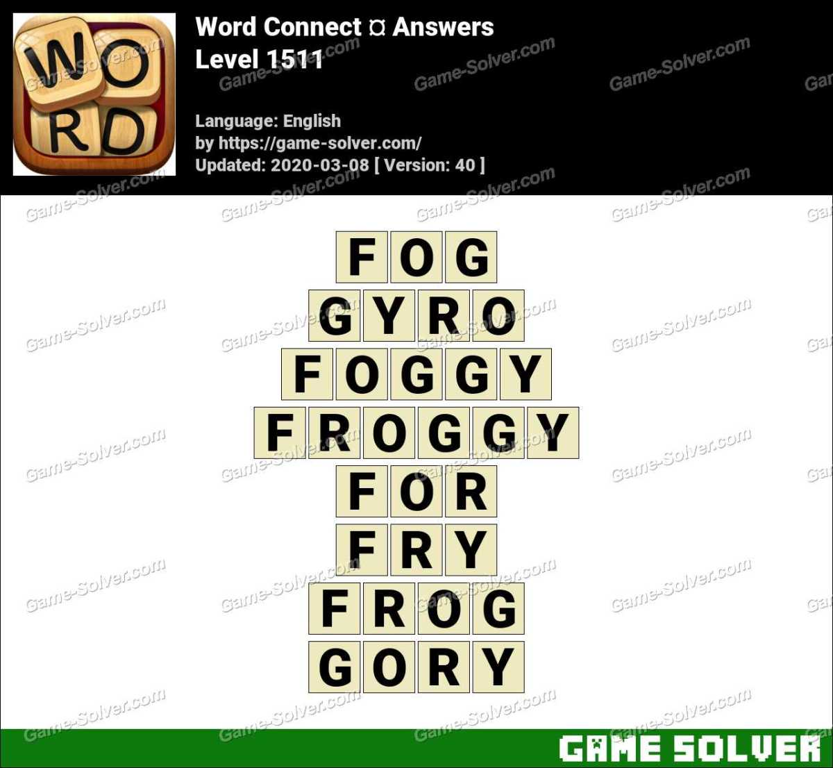 Word Connect Level 1511 Answers