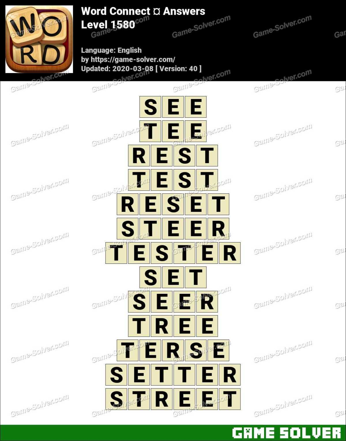 Word Connect Level 1580 Answers
