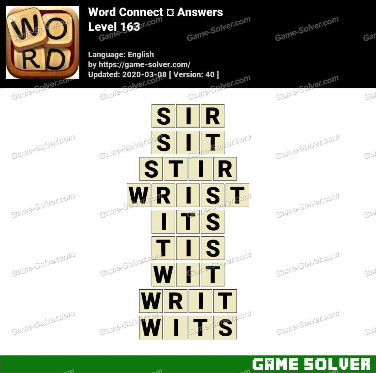 Word Connect Level 163 Answers