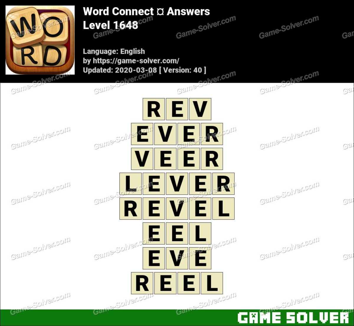 Word Connect Level 1648 Answers