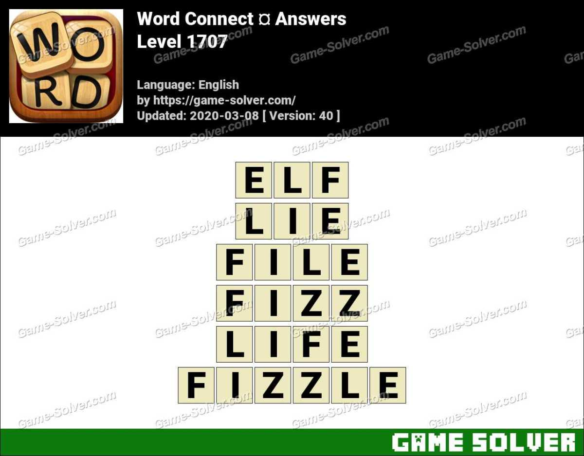 Word Connect Level 1707 Answers