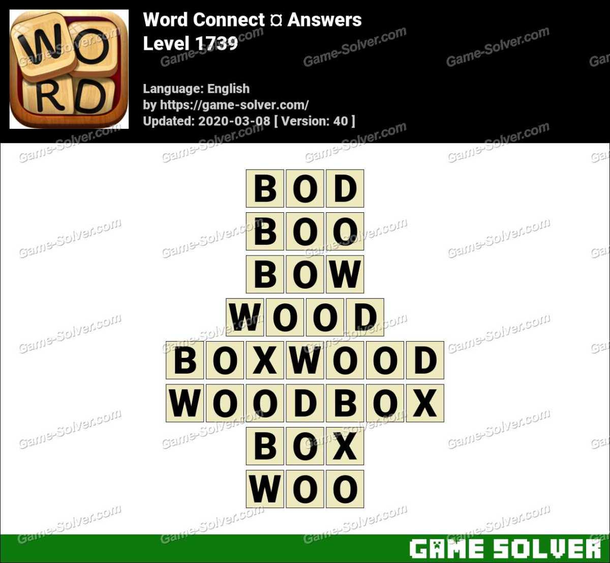 Word Connect Level 1739 Answers