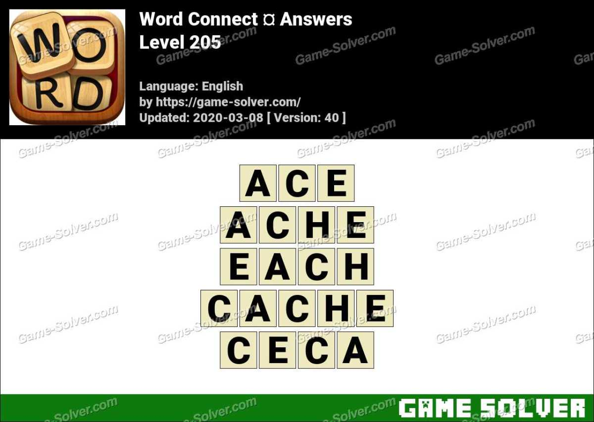 Word Connect Level 205 Answers