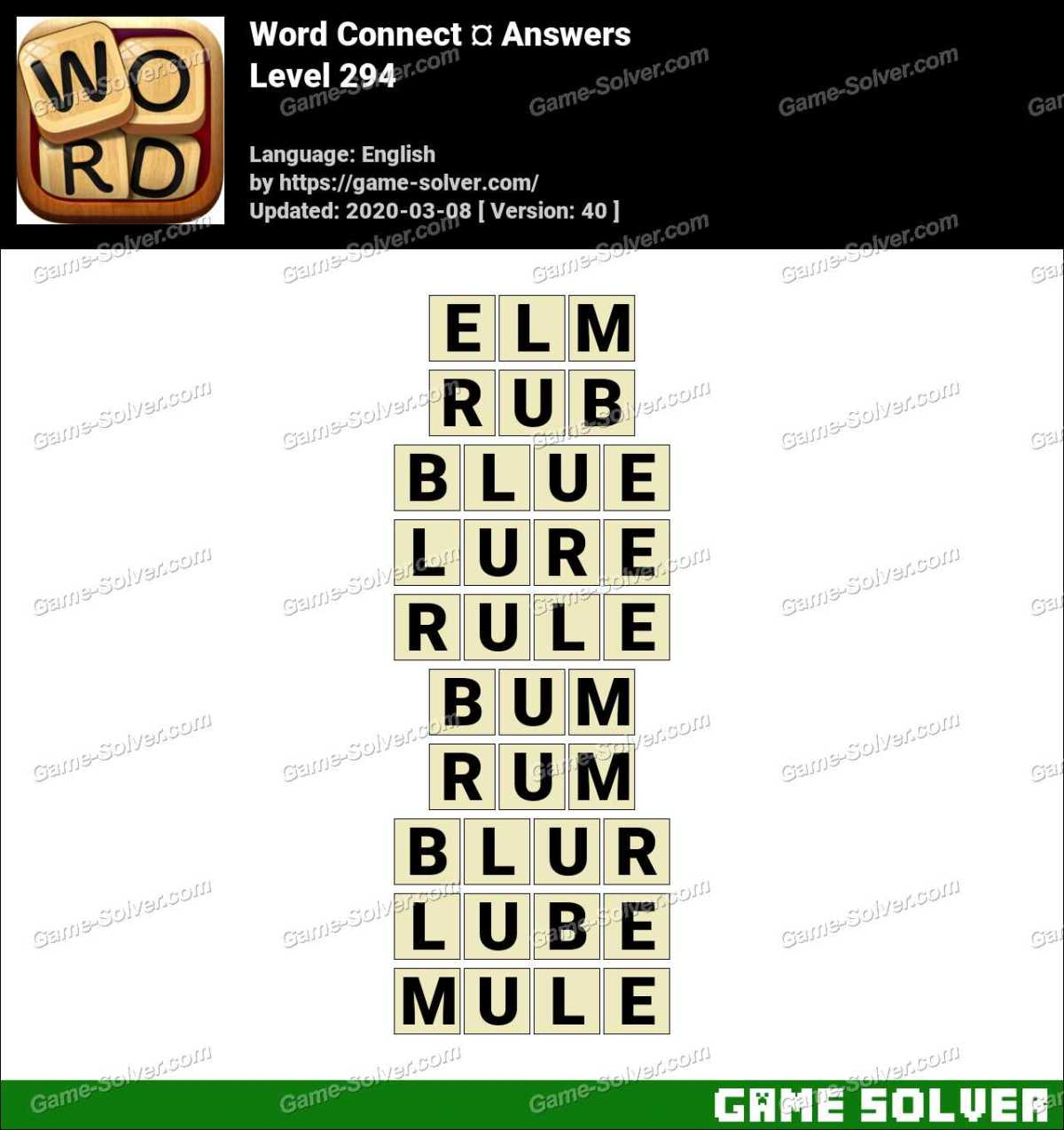Word Connect Level 294 Answers