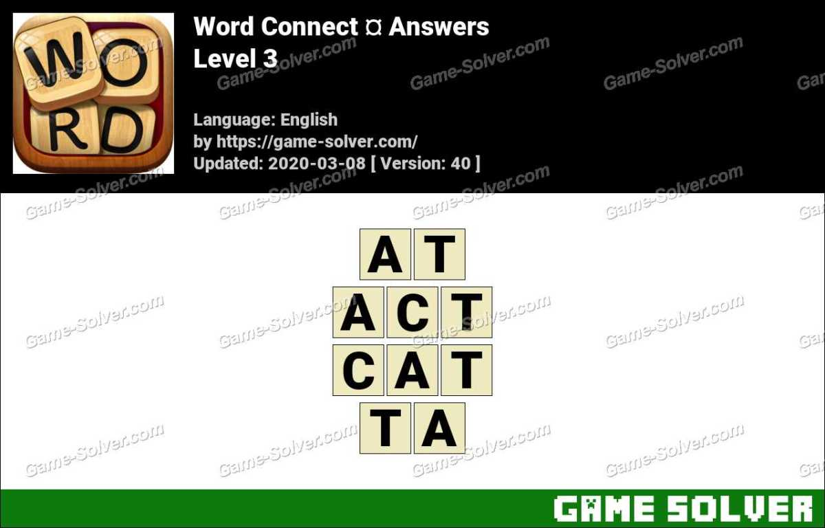 Word Connect Level 3 Answers